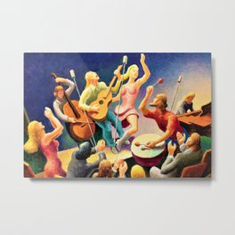 Classical Masterpiece 'Youth Music' by Thomas Hart Benton Metal Print