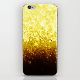 Golden Yellow Ombre Crystals iPhone Skin