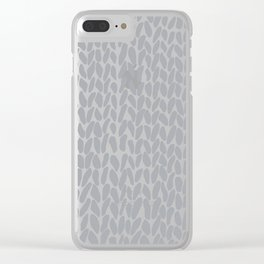 Hand Knit Zoom Grey Clear iPhone Case