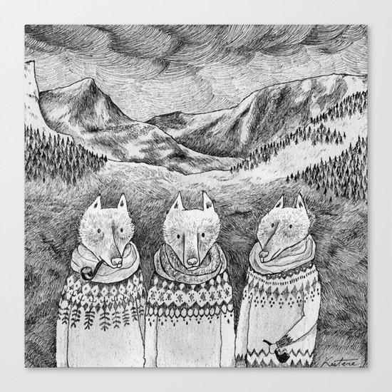 Icelandic foxes Canvas Print