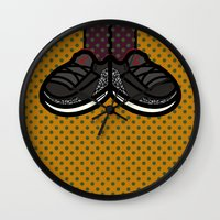 air jordan Wall Clocks featuring AIR JORDAN 3 by originalitypieces