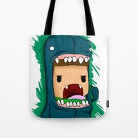 monster Tote Bags featuring monster by jeff'walker