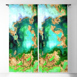 100 Starry Nebulas in Space 011 (Square) Blackout Curtain
