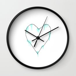 Ice Cold Heart Wall Clock