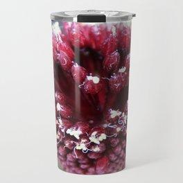 Macro of Round-Headed Leek Flower Allium Sphaerocephalon Travel Mug
