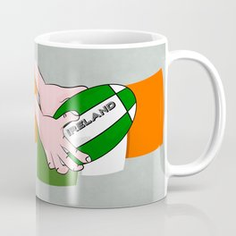Rugby Ireland Flag Coffee Mug