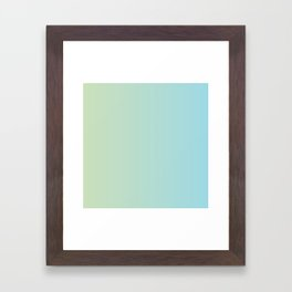 Turquoise Green Blue Gradient Framed Art Print