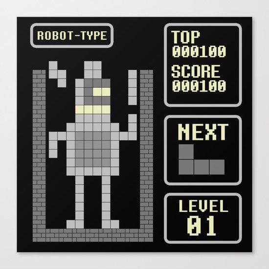 TETRIS: Robot Type Canvas Print