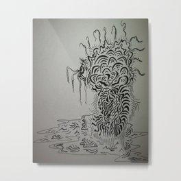 Ink Baby Doodle Metal Print