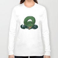 slytherin Long Sleeve T-shirts featuring Slytherin by Clair C
