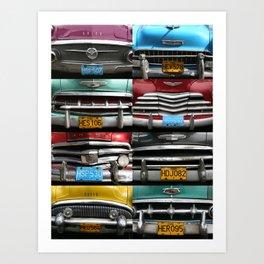 Cuba Car Grilles - Vertical Format  Art Print
