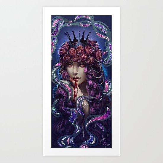 Blood peonies Art Print