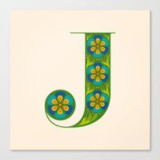 J - Amarilis Canvas Print