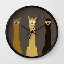 Triple LLAMAS ALPACAS CAMELS - Dark Wall Clock