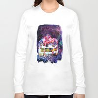 cake Long Sleeve T-shirts featuring Cake by Andreea Maria Has