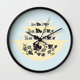 Black Gooseberry Stack Wall Clock