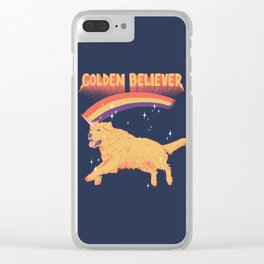 Golden Believer Clear iPhone Case