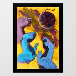 Three Tweasel Moon Art Print