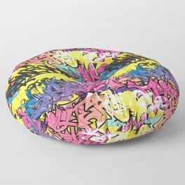 graffiti pat Floor Pillow