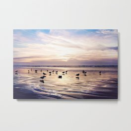 dusk on the beach Metal Print