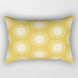 Golden Sun Pattern III Rectangular Pillow