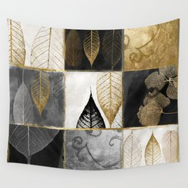 Fallen Gold Patchwork Wall Tapestry