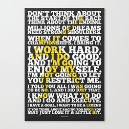 Lab No. 4 - Usain Bolt Sport Inspirational Quotes Poster Canvas Print