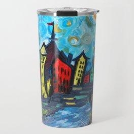 Primary color Cityscape Travel Mug