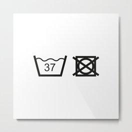 Washing instructions - babies Metal Print