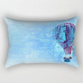 Hot Air Balloon Love Rectangular Pillow