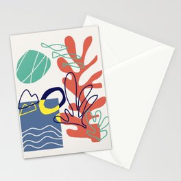 Under the sea coral abstract Stationery Cards