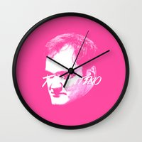 quentin tarantino Wall Clocks featuring Tarantino by WeEatDesign