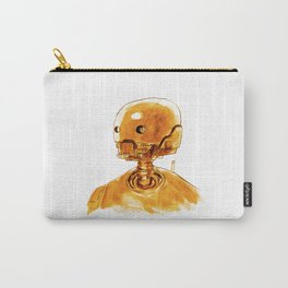 Gold Robot Carry-All Pouch