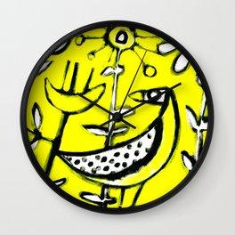 Sunlit Mid-Century Bird Wall Clock