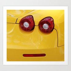 Smile Farrari Art Print