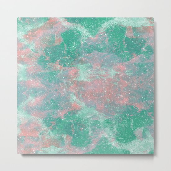 Sea Green Foam Metal Print