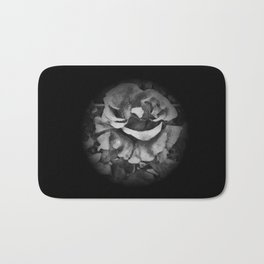 Black Rose - Painting Style - Black and White - Art Gift Bath Mat