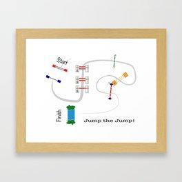 Jump the Jump Framed Art Print
