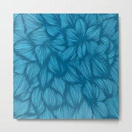Blue Ties Metal Print
