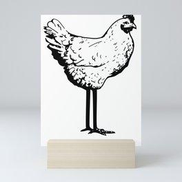 Dont Skip Leg Day Chicken Legs Fitness Mini Art Print