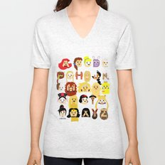 Princess Alphabet Unisex V-Neck