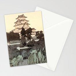 Himeji Castle, Morning  by Hiroshi Yoshida - Japanese Vintage Ukiyo-e Woodblock Print Stationery Cards