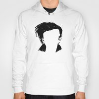 matty healy Hoodies featuring Matt Healy Silhuette Drawing by summergirl