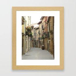 Alleyway in Laguardia Spain Framed Art Print