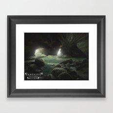 Fantastic Island Cave Framed Art Print