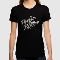 Reefer Roller Womens Fitted Tee Black LARGE