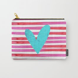 Soulmates Lines and Hearts Carry-All Pouch