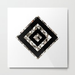 Geometric Black Diamond Metal Print
