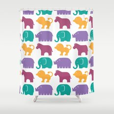 Fun at the Zoo: Pattern Shower Curtain