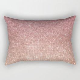 Girly Chic Pink Gold Glitter Ombre Rectangular Pillow